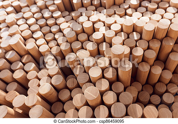 Abstract stacked wood log background - csp86459095