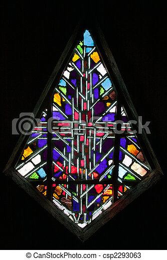 abstract stained glass - csp2293063