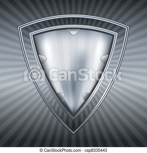 Abstract steel shield  - csp8335443