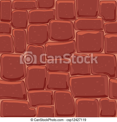 Abstract stone wall seamless background - csp12427119