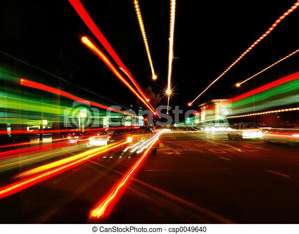abstract, straat, verdoezelen - csp0049640