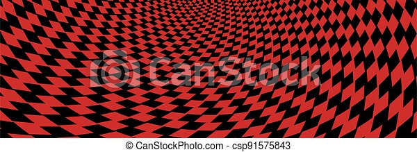Abstract striped black and red Spiral background - csp91575843
