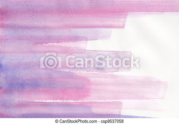 Abstract striped purple watercolor background - csp9537058