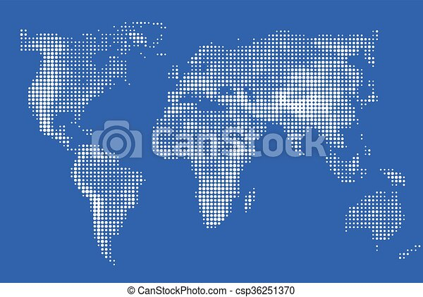 Abstract stylized image of world map dotted world map made abstract stylized image of world map dotted world map made circular pixel world maps blue round gumiabroncs Choice Image