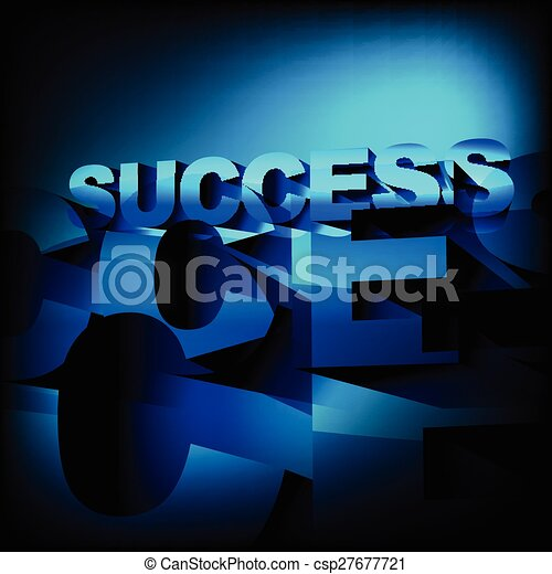 abstract success background - csp27677721
