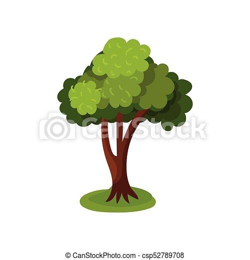 Abstract summer tree vector Illustration - csp52789708
