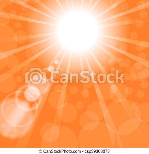 Abstract Sun Background. Orange Summer Pattern. - csp39303873