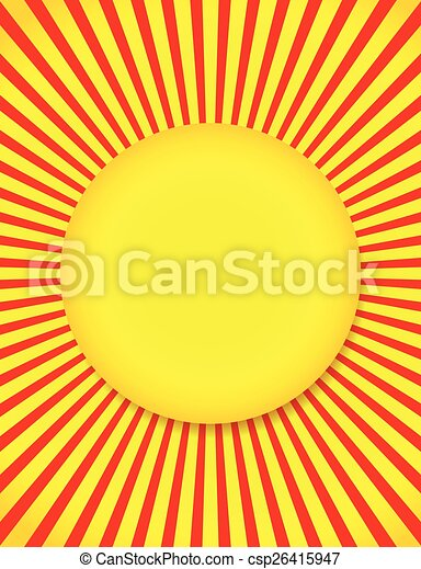 Abstract Sun background with Rays, Beams Abstract Sun background with Rays, Beams - csp26415947