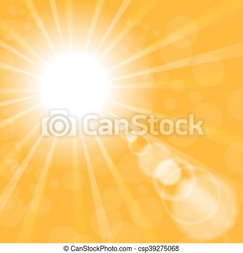 Abstract Sun Background. Yellow Summer Pattern. - csp39275068