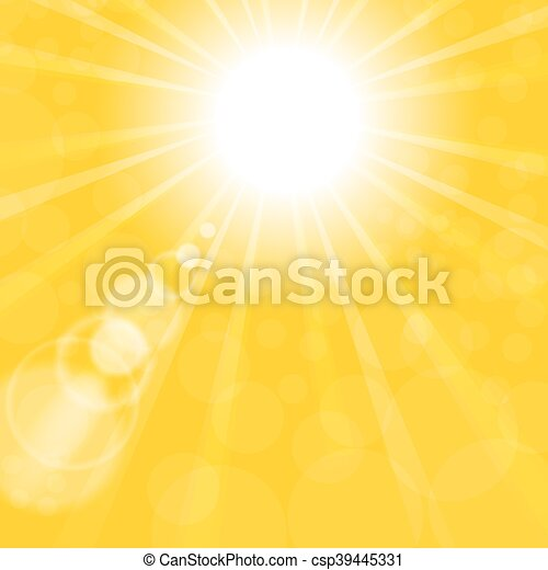 Abstract Sun Background. Yellow Summer Pattern - csp39445331