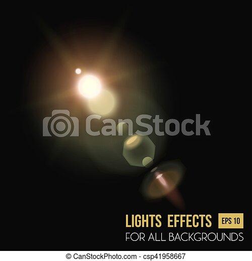 Abstract Sun In Zenith Light Effect Through Lens Vector