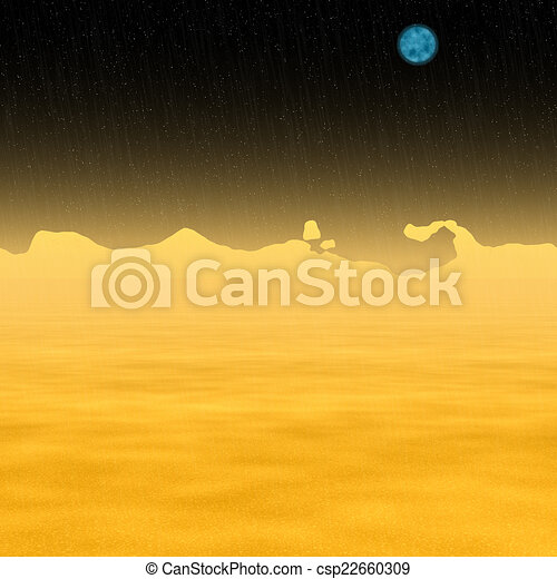 Abstract Sun landscape generated hires background - csp22660309