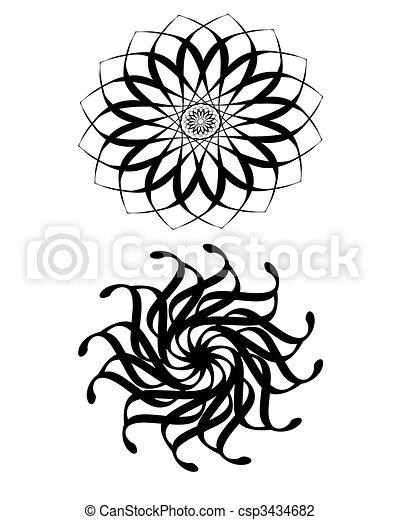 Abstract sunflower . Illustration of abstract sun flower ...