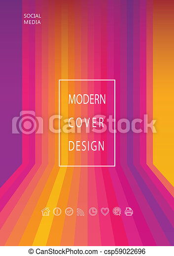 Abstract Sunset Gradient Color Poster Multicolored Orange Red