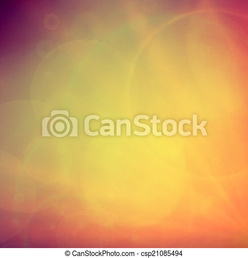 Abstract Sunset on sky with lenses flare. - csp21085494