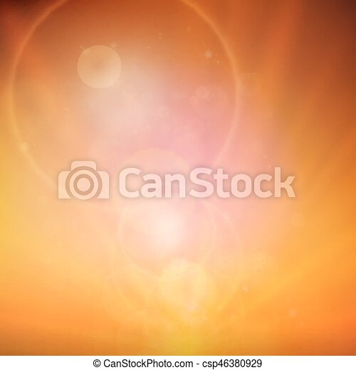 Abstract Sunset on sky with lenses flare. - csp46380929