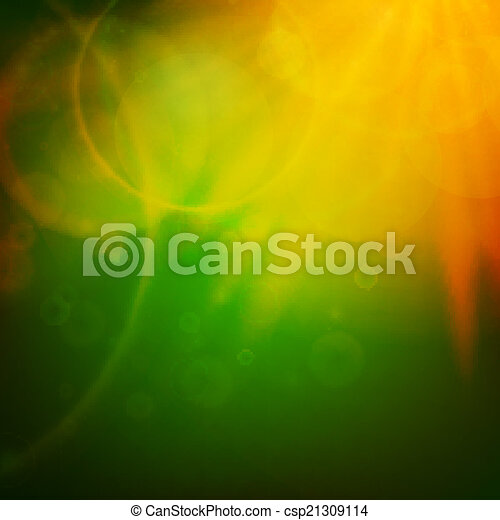 Abstract Sunset on sky with lenses flare. - csp21309114