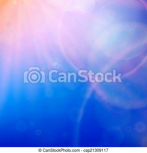 Abstract Sunset on sky with lenses flare. - csp21309117
