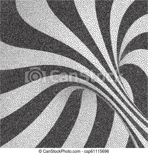 Abstract swirl background  Black and white grainy design  Pointillism  pattern  Stippling effect  Vector illustration
