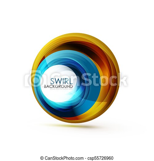 Abstract Swirl Banner Circle Vector Abstract Background With Copy Space