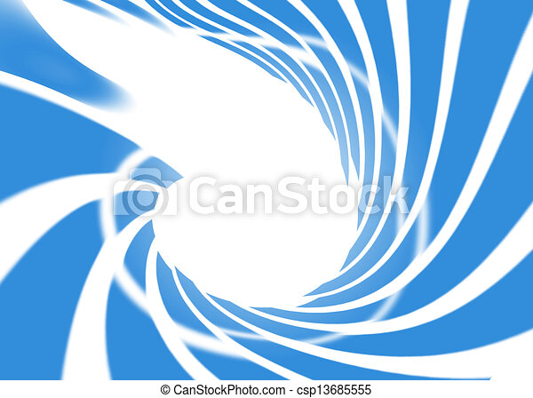 Abstract Swirl Blue Sky On White Background