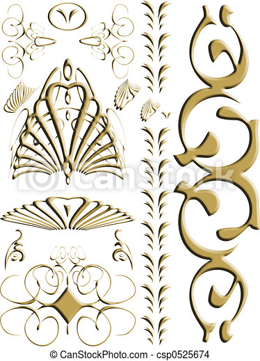 Abstract Swirl Gold A Collection Of Swirls And Gothic Designs