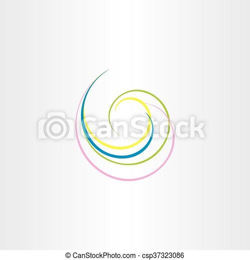 abstract swirl vector background design element - csp37323086