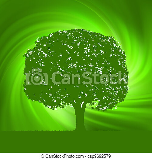 abstract swirly tree nature template eps 8 vector file included