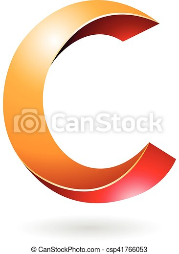abstract symbol of letter c design concept of a abstract clipart rh canstockphoto com letter c words clipart letter c clipart free