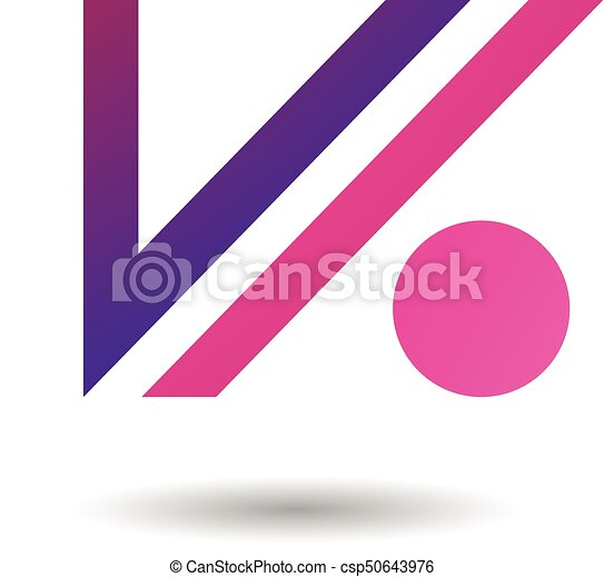 Abstract Symbol Of Letter V And Dot Icon Design Concept Of
