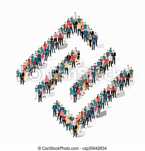 abstract  symbol people crowd - csp35642834