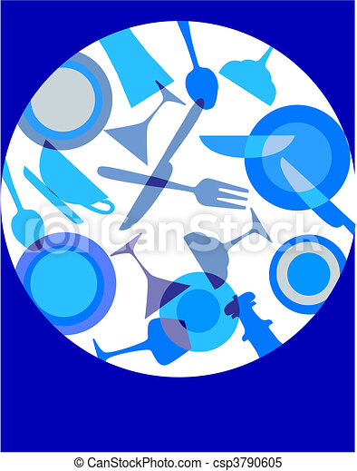 abstract table dishes set - 1 - csp3790605