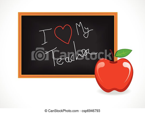 abstract teacher day background - csp6946793