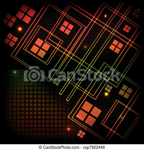 Abstract tech background - csp7822446