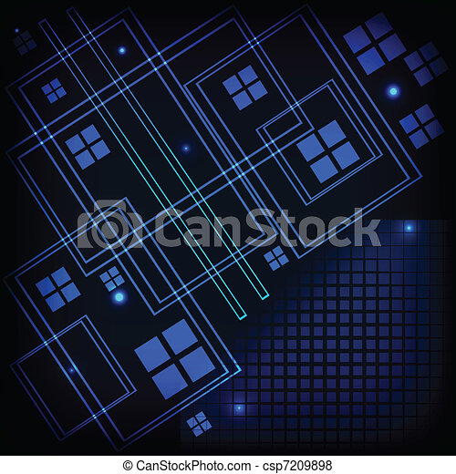 Abstract tech background - csp7209898