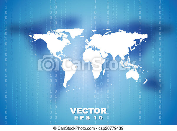 Abstract tech world map background vector design abstract tech world map background csp20779439 gumiabroncs Choice Image