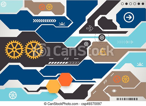Abstract technological background. - csp49370097