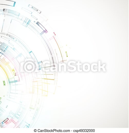 Abstract technological background - csp49332000