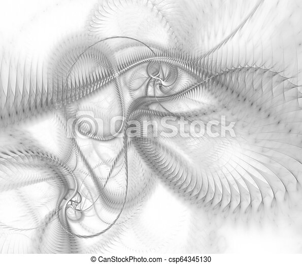 Abstract technological wave background for art projects. Mechanical concept - csp64345130