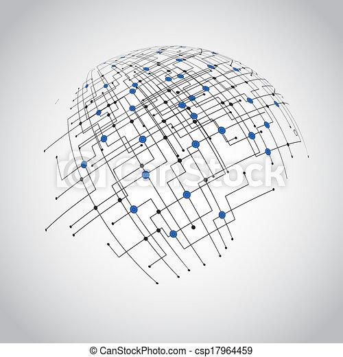 abstract, technologie, globe - csp17964459