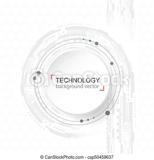 Abstract technology Background. Digital network and hightech concept. On White Background With Sample Text Area. - csp50459637