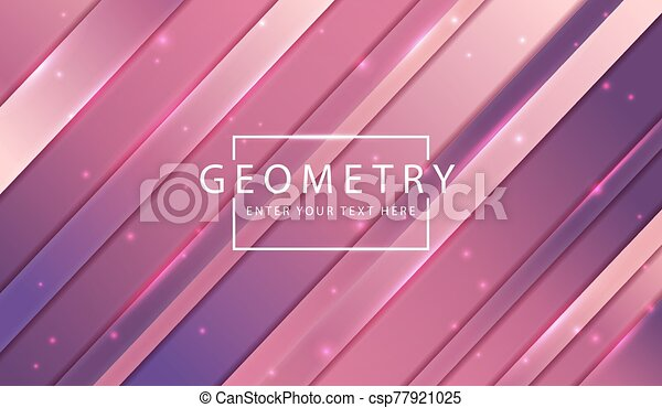 abstract technology background dyanmic purple pink geometry strip and sparkle can stock photo