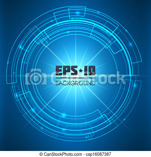 Abstract Technology Background. - csp16087387