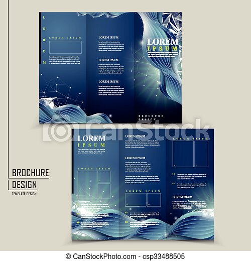Abstract Technology Background For Tri Fold Brochure Template