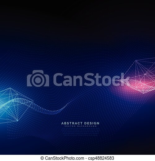 abstract technology background with light effect vector