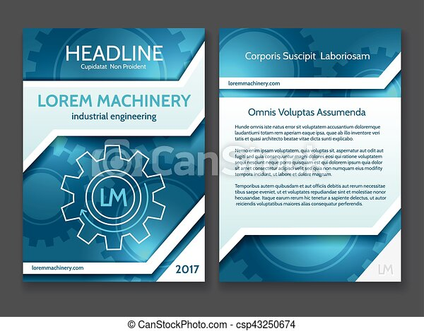 Abstract Technology Brochure Template Modern Digital Blue