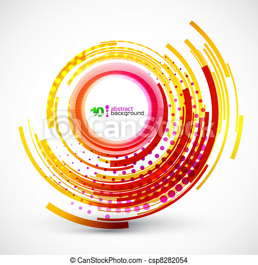 Abstract technology circle background - csp8282054