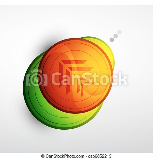 Abstract technology circle background - csp6852213