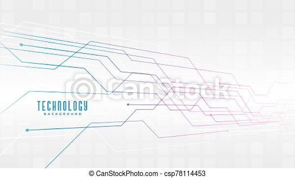 abstract technology circuit lines diagram background design - csp78114453