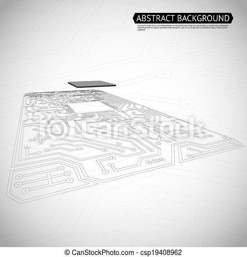 Abstract Technology Computer Interface Circuit Board Diagram Background Vector Illustration - csp19408962